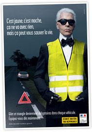 Karl Lagerfeld Promotes Safe Driving