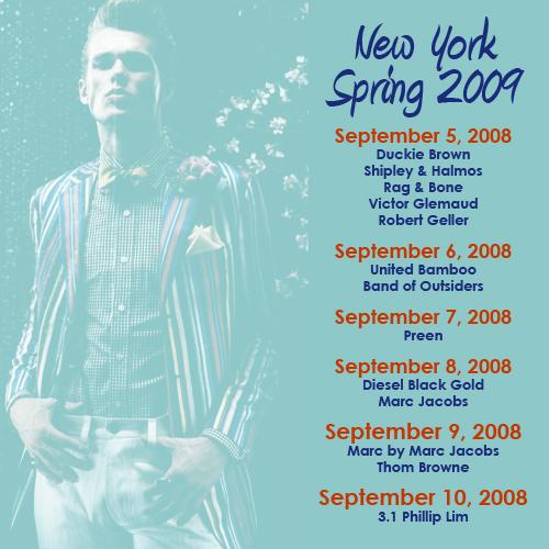 New York Spring 2009 Shows