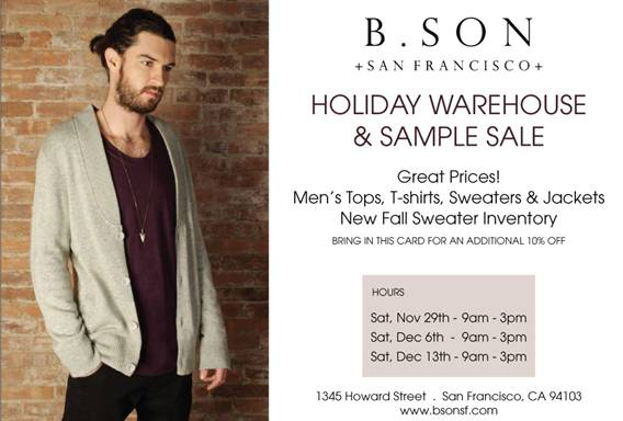 B. Son Holiday Warehouse and Sample Sale
