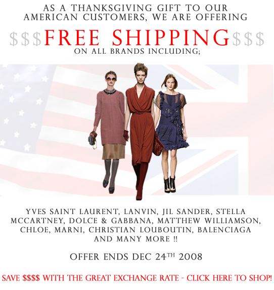 Browns Offers Free Shipping for Americans Offer Ends 12/24