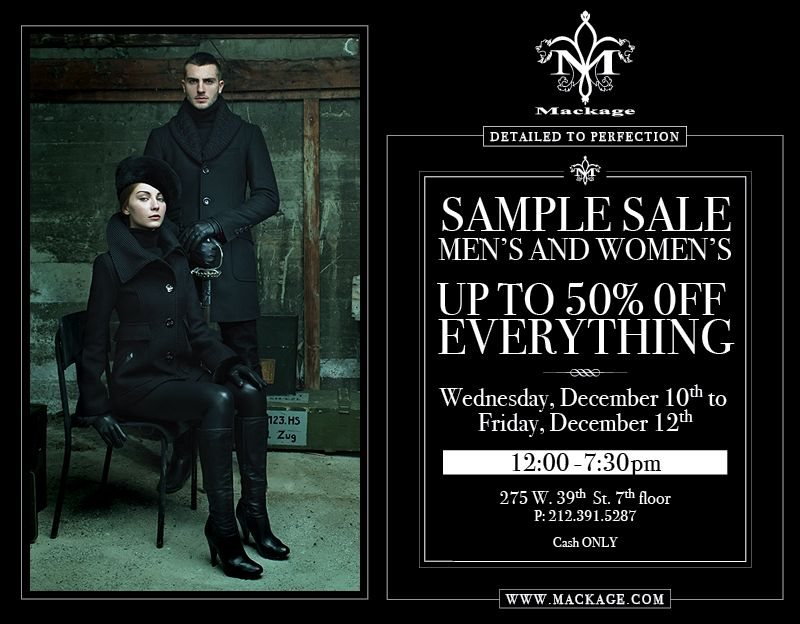 New Yorkers! Sample Sales!