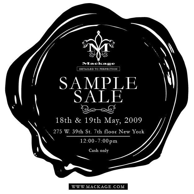 Upcoming Sample Sales