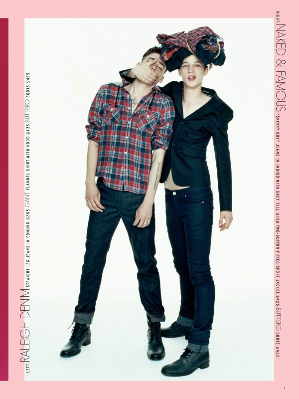 Models Cole Mohr and Ash Stymest for Barneys COOP (2009)