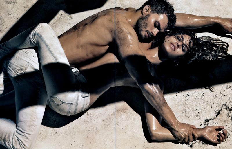 Calvin Klein Jeans Spring 2010 Campaign Preview | Jamie Dornan & Eva Mendes by Steven Klein