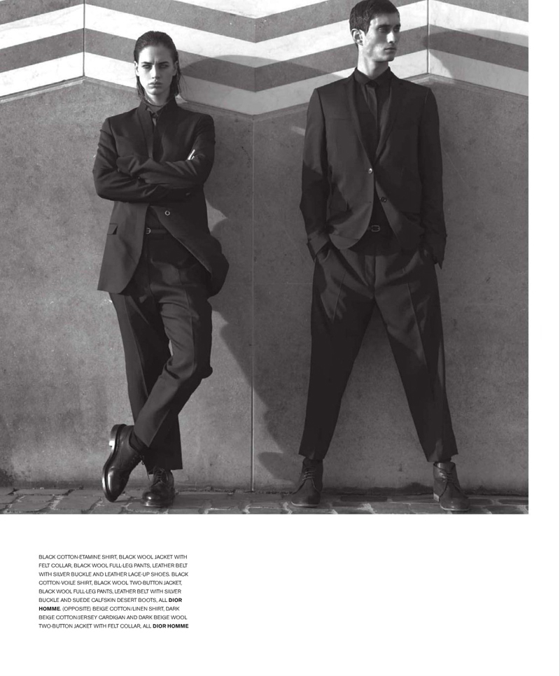 Three-Act Play | Dior Homme S/S '10--Mathias Bilien & Dominik Bauer by Sybille Walter