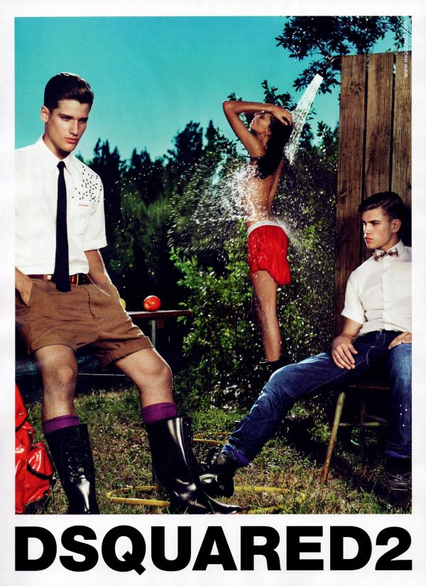 Dsquared² Spring 2010 Campaign Preview | André Bentzer & Arthur Sales by Mert & Marcus