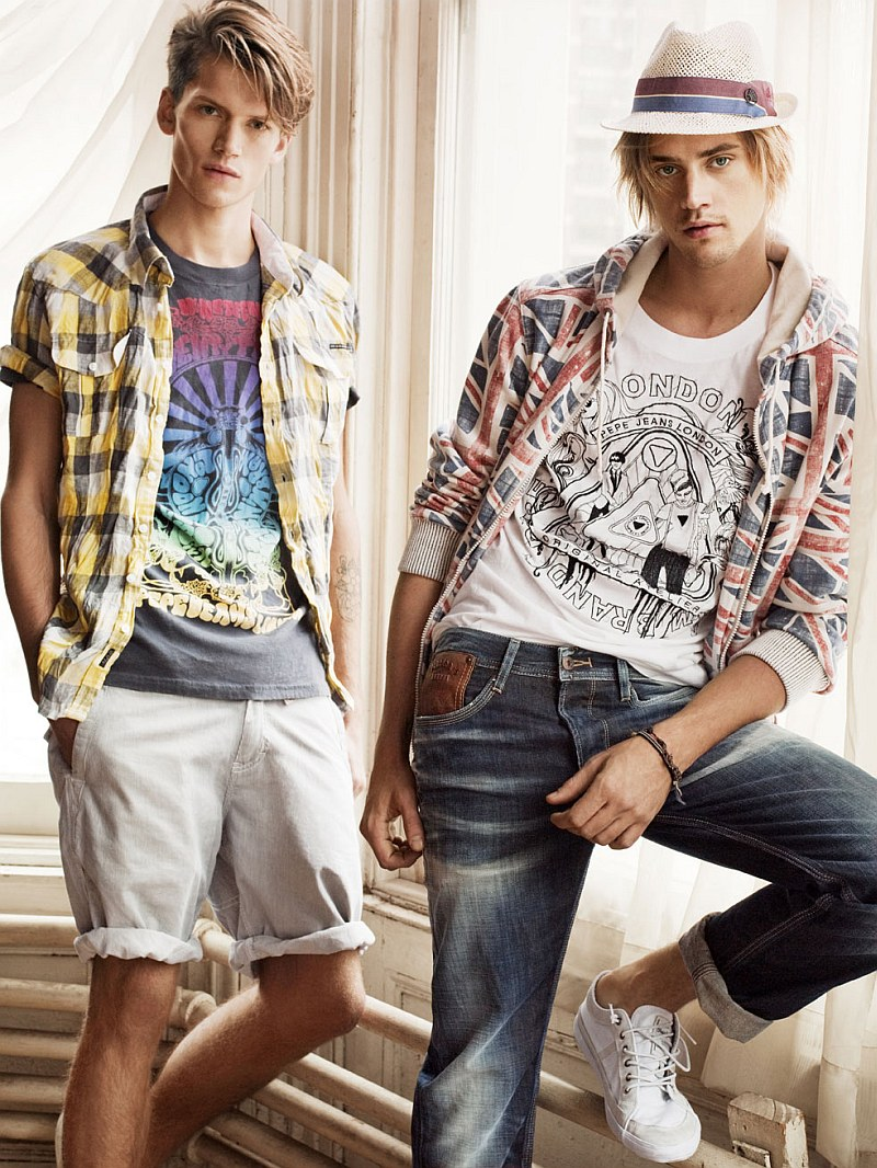 Pepe Jeans Spring 2010 Campaign   Boyd Holbrook & Tom Guinness by Tom Munro