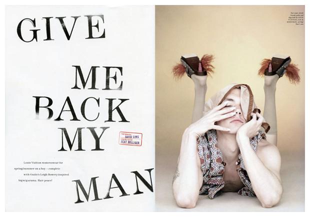 Give Me Back My Man   Yuri Pleskun for Love Magazine by David Sims