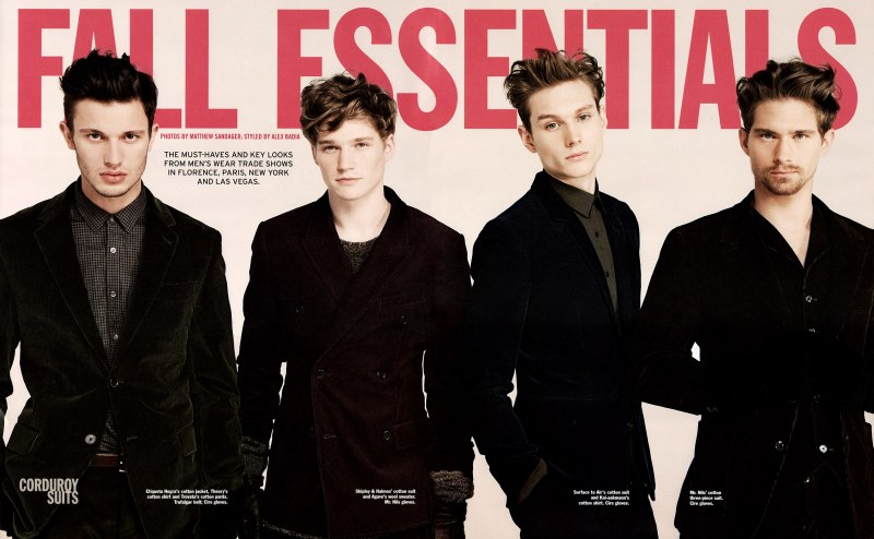 Aiden Andrews, Brian Davenport, Diego Krauss & Stephan Haurholm by Matthew Sandager | WWD's Fall Essentials