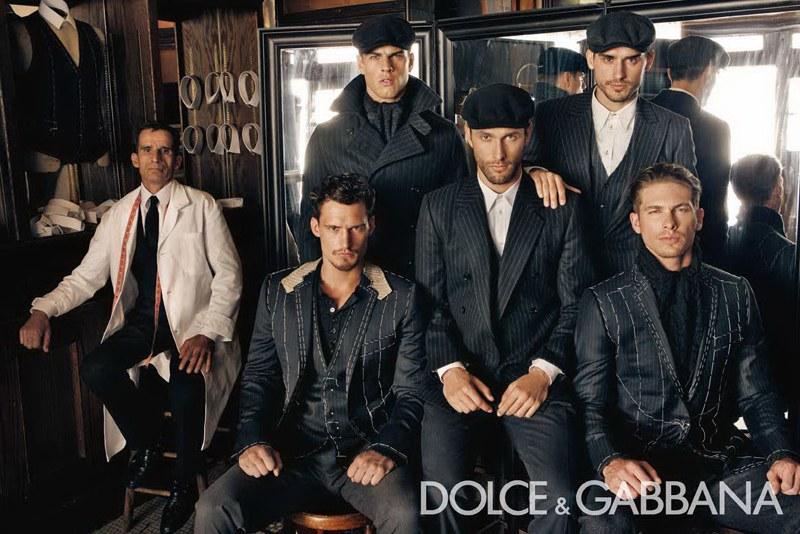 Dolce & Gabbana Fall 2010 Campaign | Adam Senn, Arthur Kulkov, Evandro Soldati, Noah Mills & Sam Webb by Steven Klein