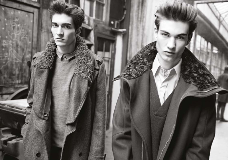 Matvey Lykov & Johannes Linder by Marton Perlaki for Wooyoungmi Fall 2010 Campaign