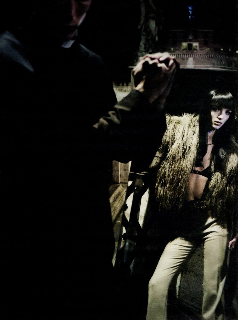 Clément Chabernaud & Mariacarla Boscono by Paolo Roversi in Forever Gucci for W August 2010