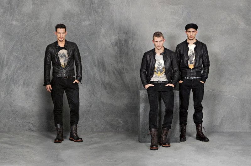 Dolce & Gabbana Fall 2010   Adam Senn, Sam Webb, Julien Quévenne, Sebastian Lund & Andrea Preti
