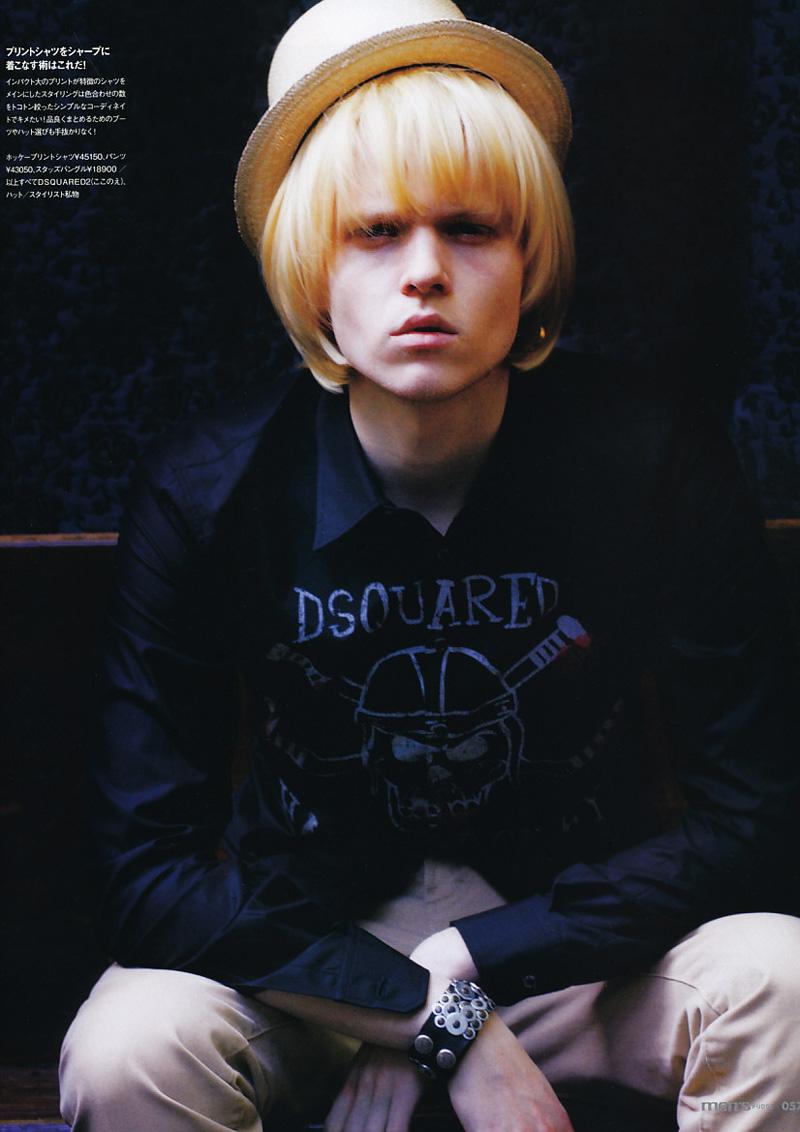 Wiktor Hansson by Tokumaru Junichiro in Dsquared² for Fudge Magazine