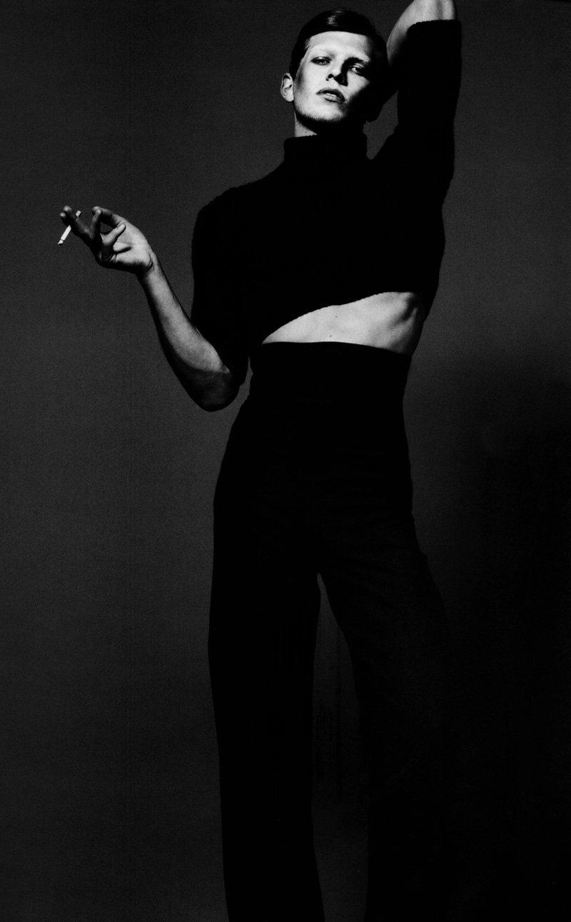 Andrej Pejic by Mert & Marcus in Rive Gauche et Libre for Vogue Paris September 2010