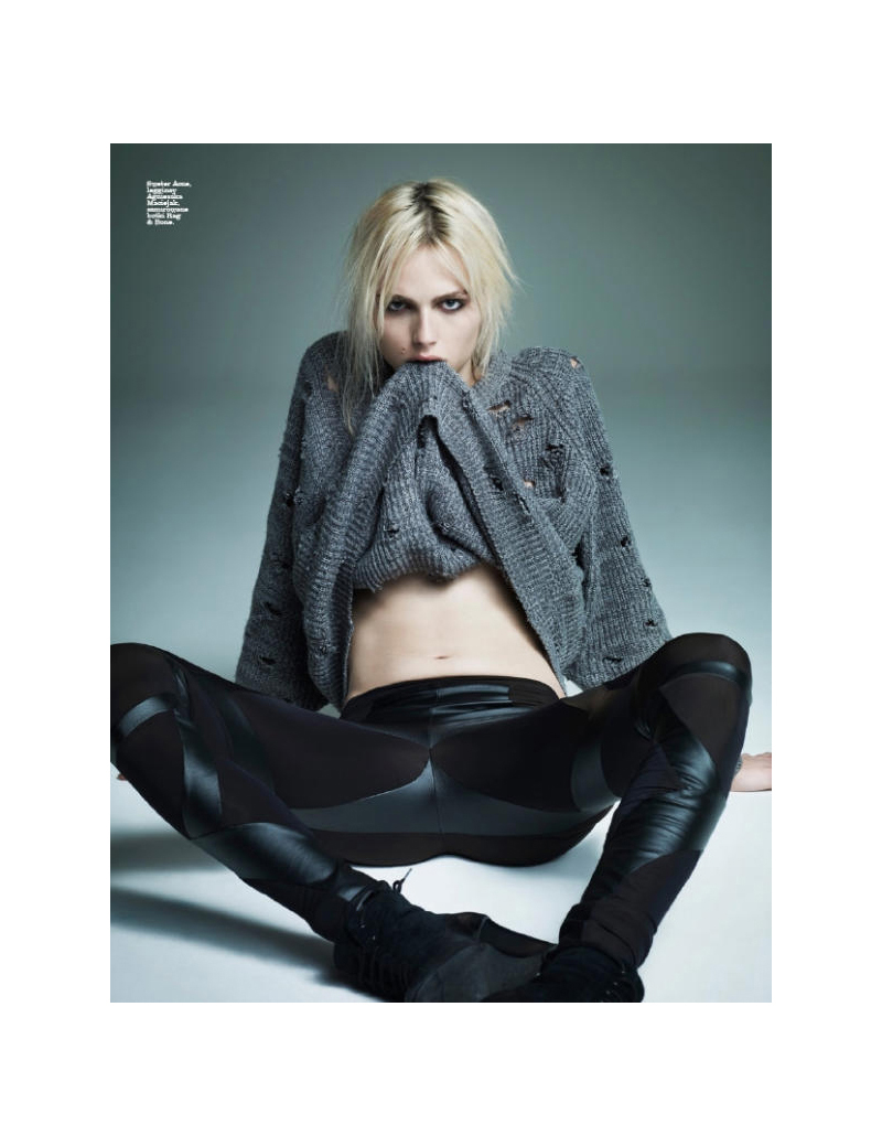 Marcin Tyszka photographs a refreshed Andrej Pejic for Viva! Moda, delivering personality in spades.