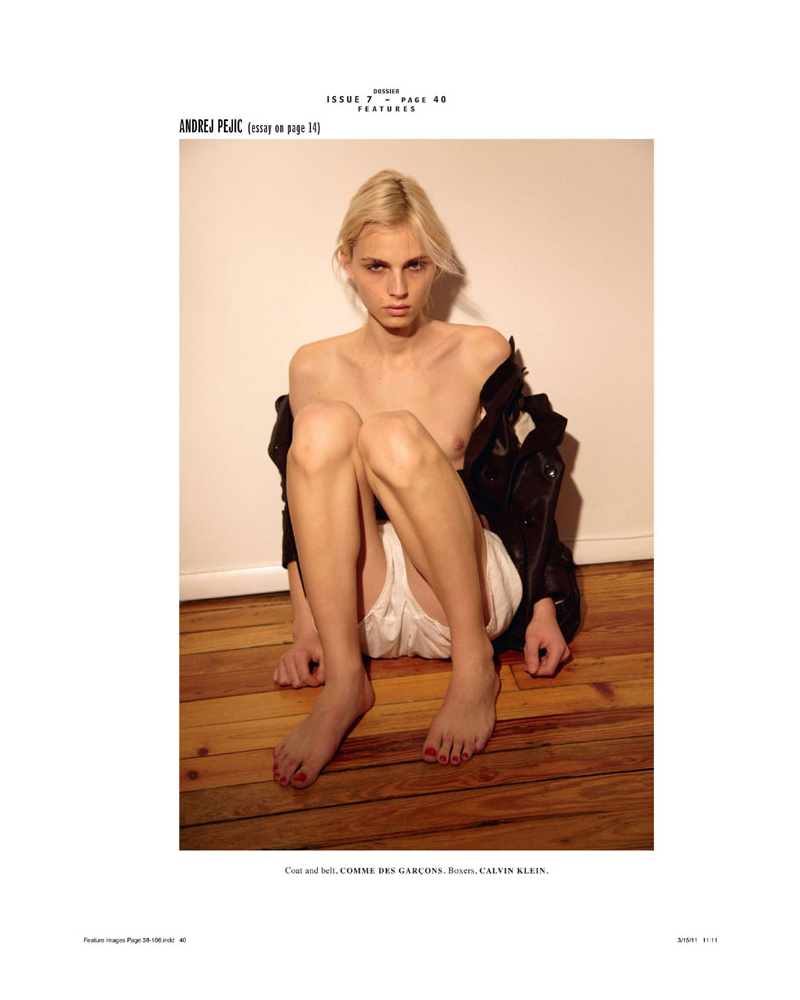 Andrej Pejic by Collier Schorr for Dossier