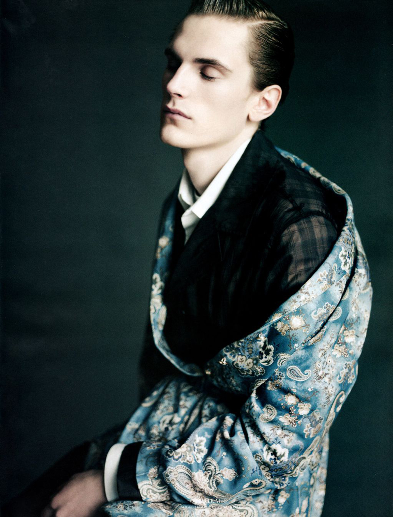 Anthon Wellsjö by Paolo Roversi for Vogue Hommes International