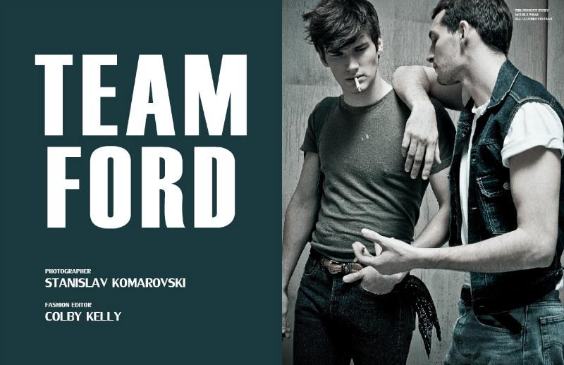 Francisco Lachowski, Bobby Nicholas, Sam Waldman & Chris Folz by Stanislav Komarovski for Fashionisto Exclusive