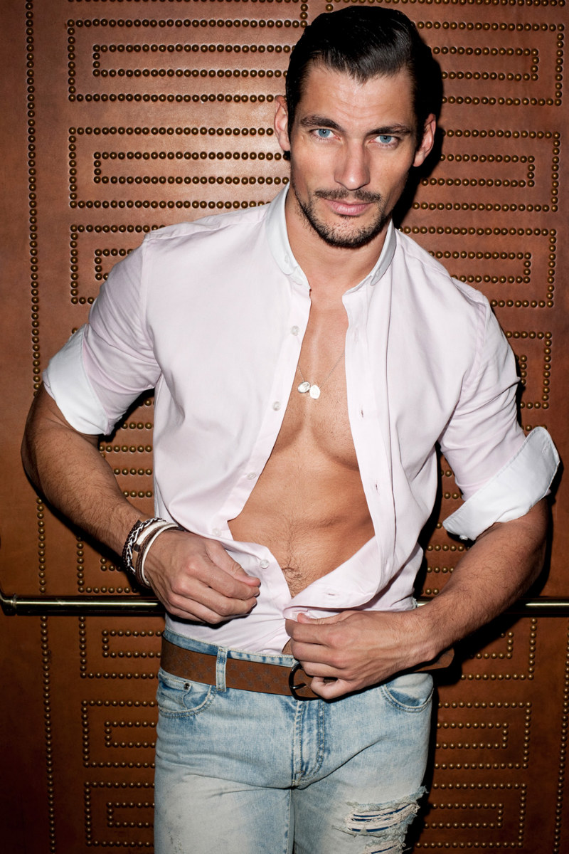 David Gandy Terry Richardson Unbuttoned Shirt