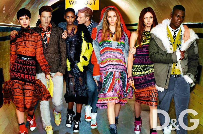 D&G Fall 2011 Campaign Preview | Alexander Johansson, David Agbodji & Guy Robinson by Mario Testino