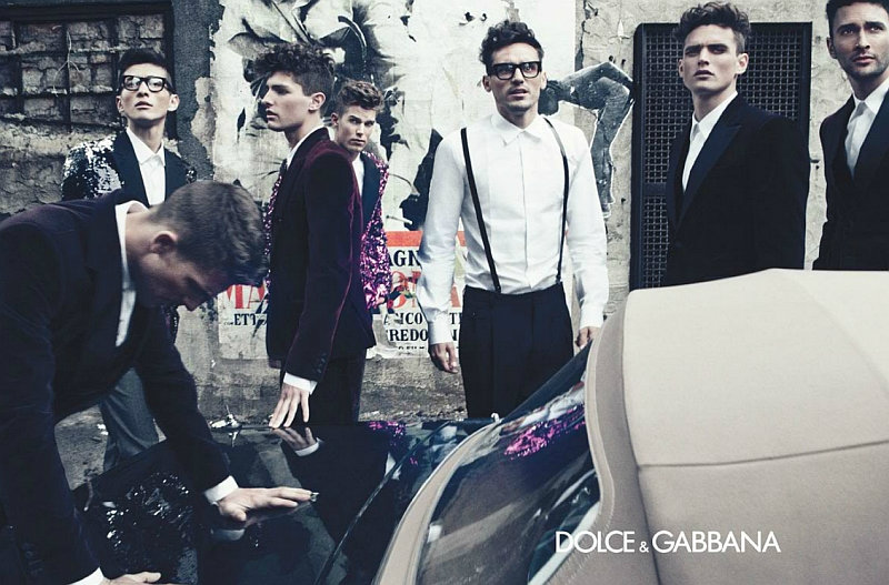 Dolce & Gabbana Fall 2011 Campaign Preview | Adam Senn, Arthur Kulkov, Daisuke Ueda, Guy Robinson, Nils Butler, Noah Mills & Paolo Anchisi by Steven Klein