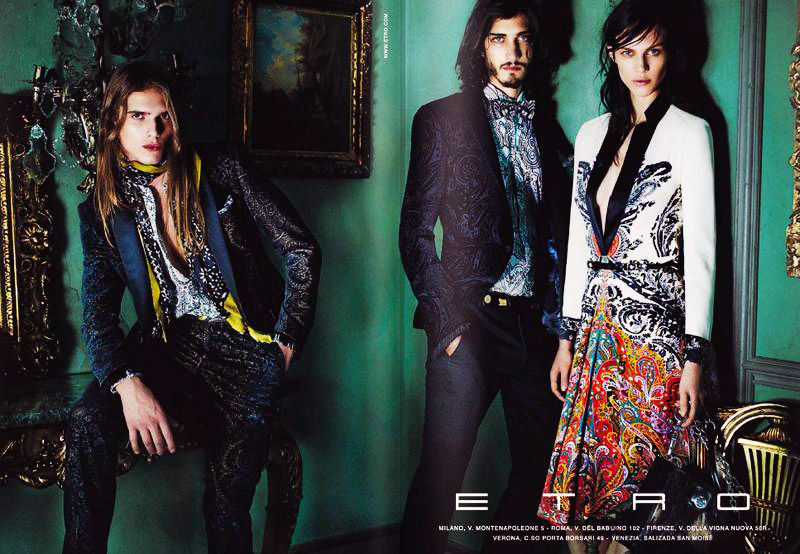 Andres Risso & Bruce Machado by Mario Testino for Etro Fall 2011 Campaign (Preview)