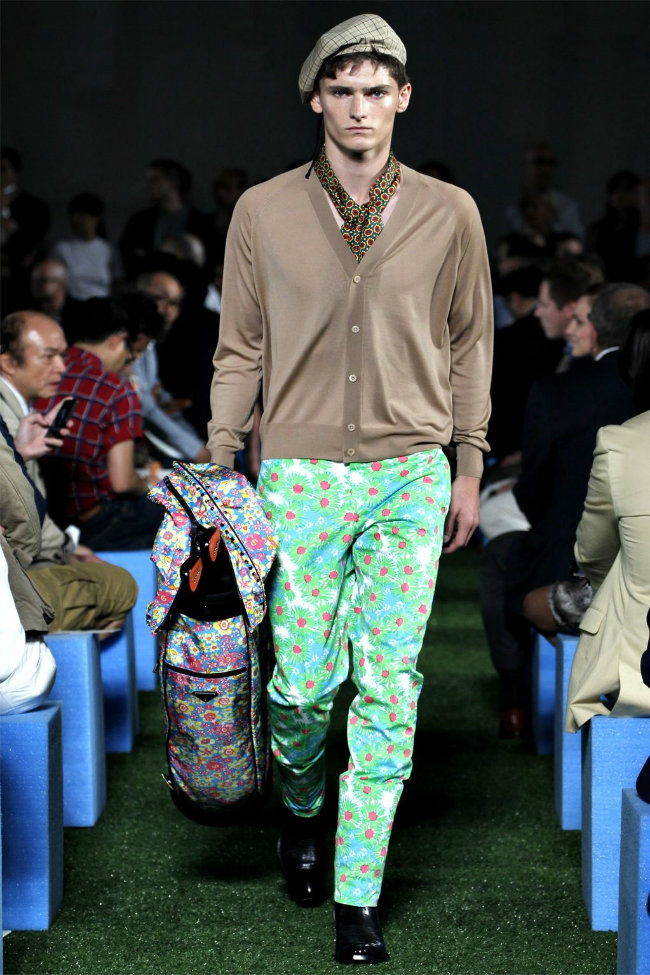 Alexander Beck hits the runway for Prada's spring/summer 2012 collection
