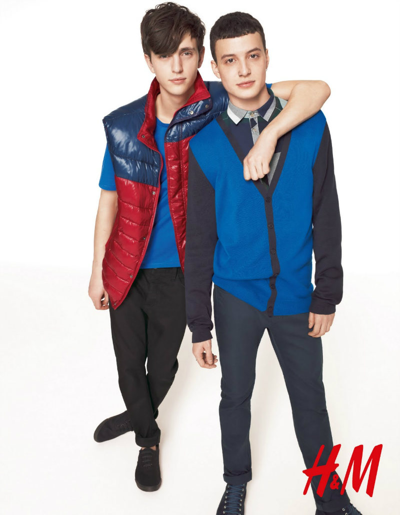 Alex Dunstan & Felix Radford by Richard Bush for H&M Colour Blocks Campaign