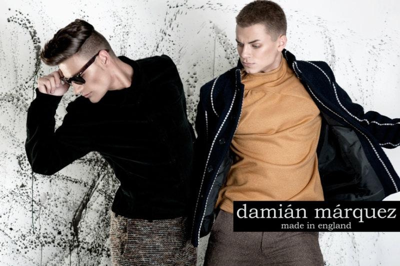Jordan Wrightt & Ollie Roddy by Garazi Gardner for Dámian Márquez Fall 2011 Campaign