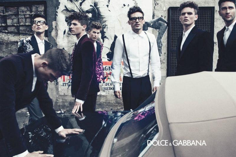Adam Senn, Arthur Kulkov, Daisuke Ueda, Guy Robinson, Nils Butler, Noah Mills & Paolo Anchisi by Steven Klein for Dolce & Gabbana Fall 2011 Campaign