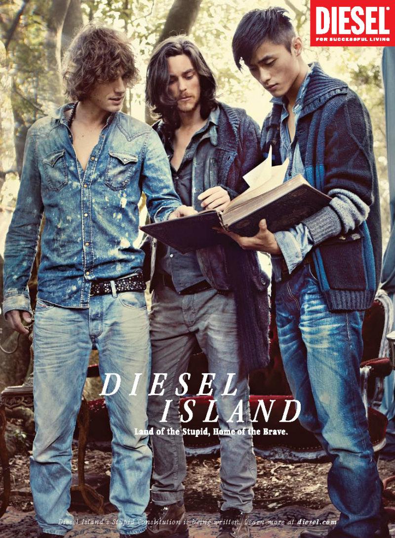 Andrew Smith, Jonas Kesseler, Josh Beech, Matteo Martari & Zhao Lei by Guy Aroch for Diesel Fall 2011 Campaign