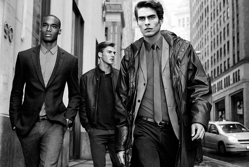 Jon Kortajarena, Patrick Kafka & Corey Baptiste by Inez & Vinoodh for DKNY Fall 2011 Campaign