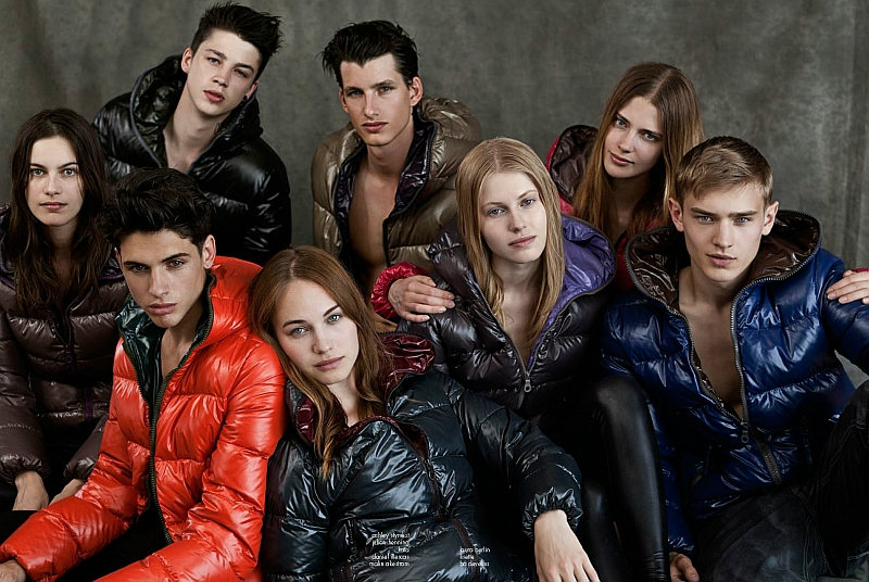 Bo Develius, Lucien Thomkins, Adrien Brunier, Julian Hennig & Ash Stymest by Alessandro Bencini for Duvetica Fall 2011 Campaign