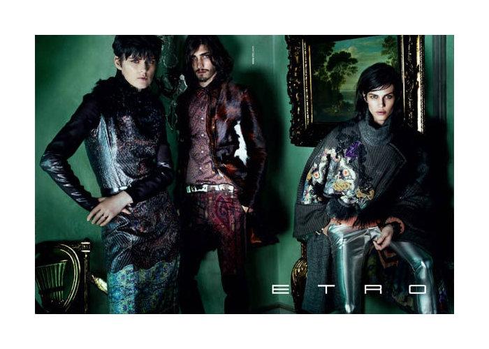 Andres Risso & Bruce Machado by Mario Testino for Etro Fall 2011 Campaign