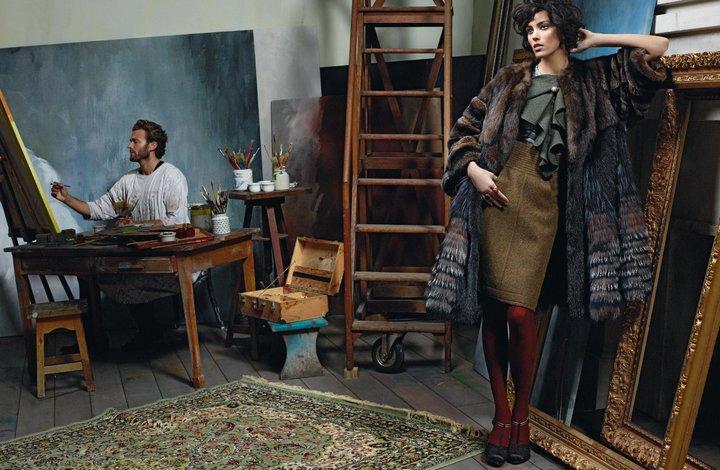 Baptiste Giabiconi & Brad Kroenig by Karl Lagerfeld for Fendi Fall 2011 Campaign