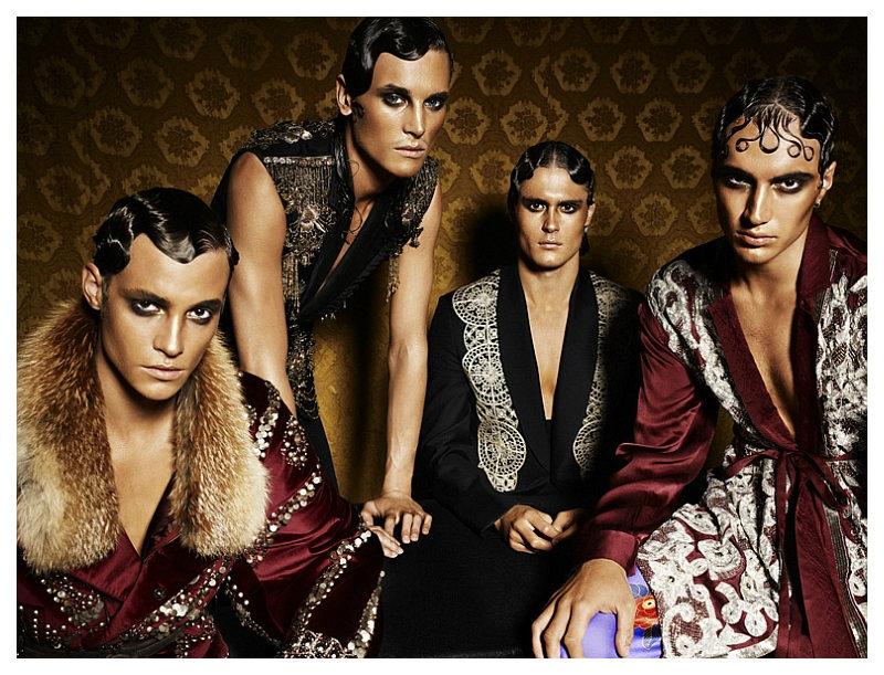 Matthew Hitt, Max Barreau, Jacques Naude & Tomek Szczukiecki by Ryan Michael Kelly for VMAN