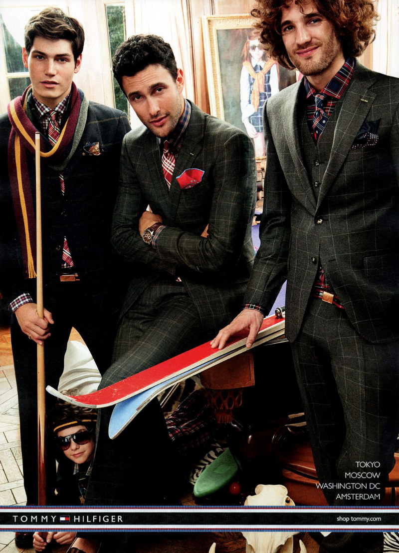 Marcel Castenmiller, Max Rogers, Noah Mills & Sam Way by Craig McDean for Tommy Hilfiger Fall 2011 Campaign