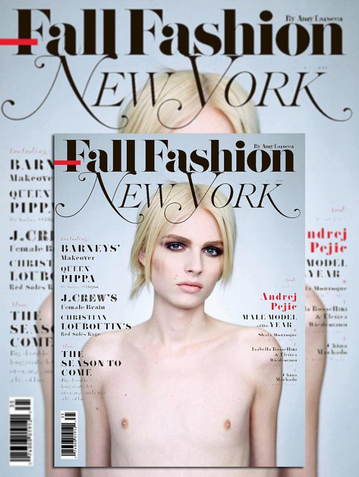 Photographed by Brigitte Lacombe, Andrej Pejic makes a New York splash.