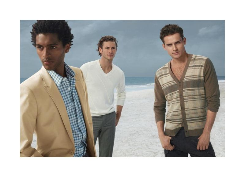 Arthur Kulkov, Thiago Santos & Parker Gregory for Perry Ellis Fall 2011 Campaign