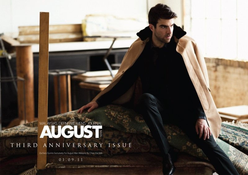 Zachary Quinto by Chiun-Kai Shih for August Man Magazine September 2011 (Exclusive Preview)