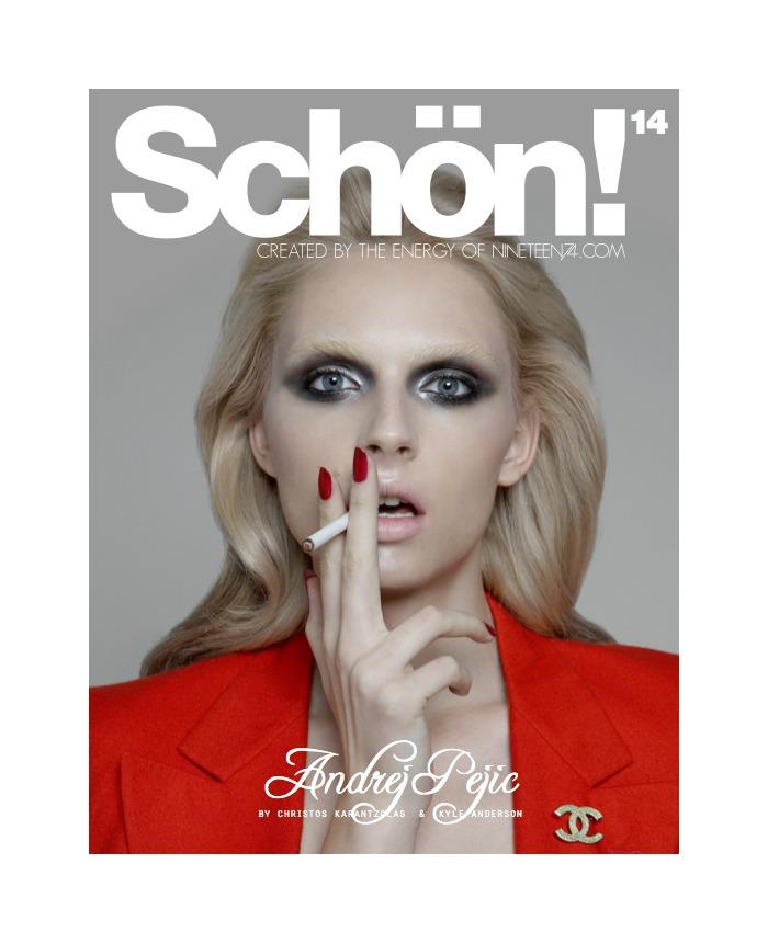Andrej Pejic by Christos Karantzolas for Schön!