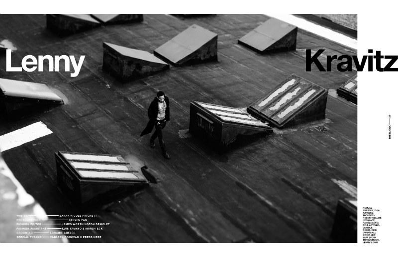 Lenny Kravitz by Steven Pan for The Block