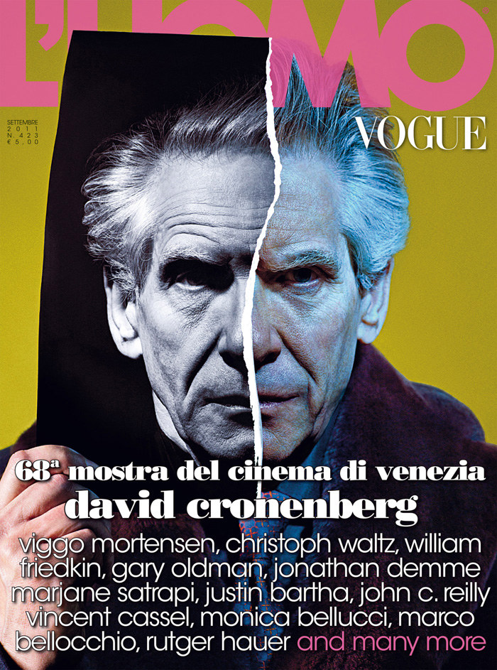 David Cronenberg & Viggo Mortensen for L'Uomo Vogue