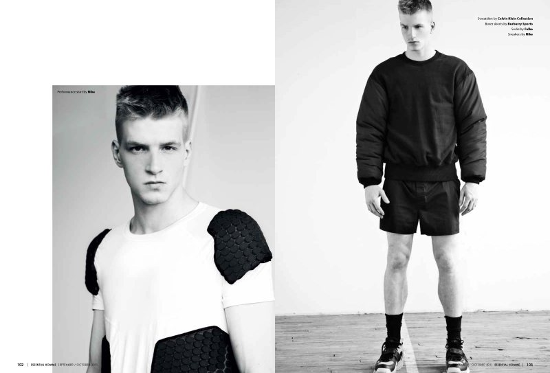 Jesse Shannon, Marshall Brockley & Nicola Wincenc by Eli Schmidt for Essential Homme