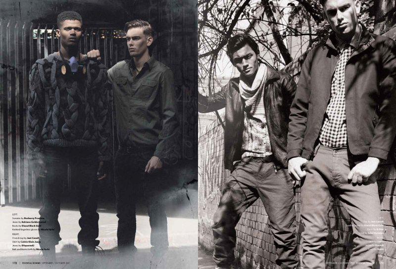 Colin Dack, Luiz Paulo, O'Shea Robertson, Ollie & Richie Cotterell by Alexander Beer for Essential Homme