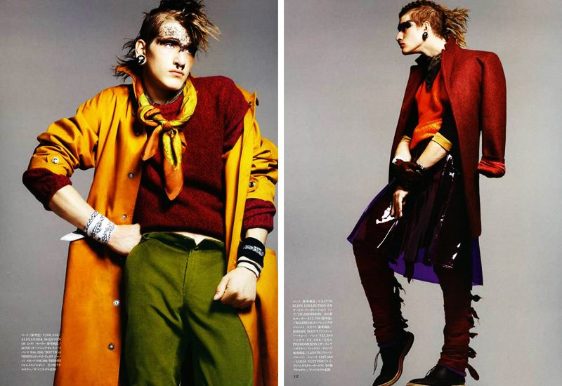 Eric Puzio by Terry Tsiolis for Vogue Hommes Japan