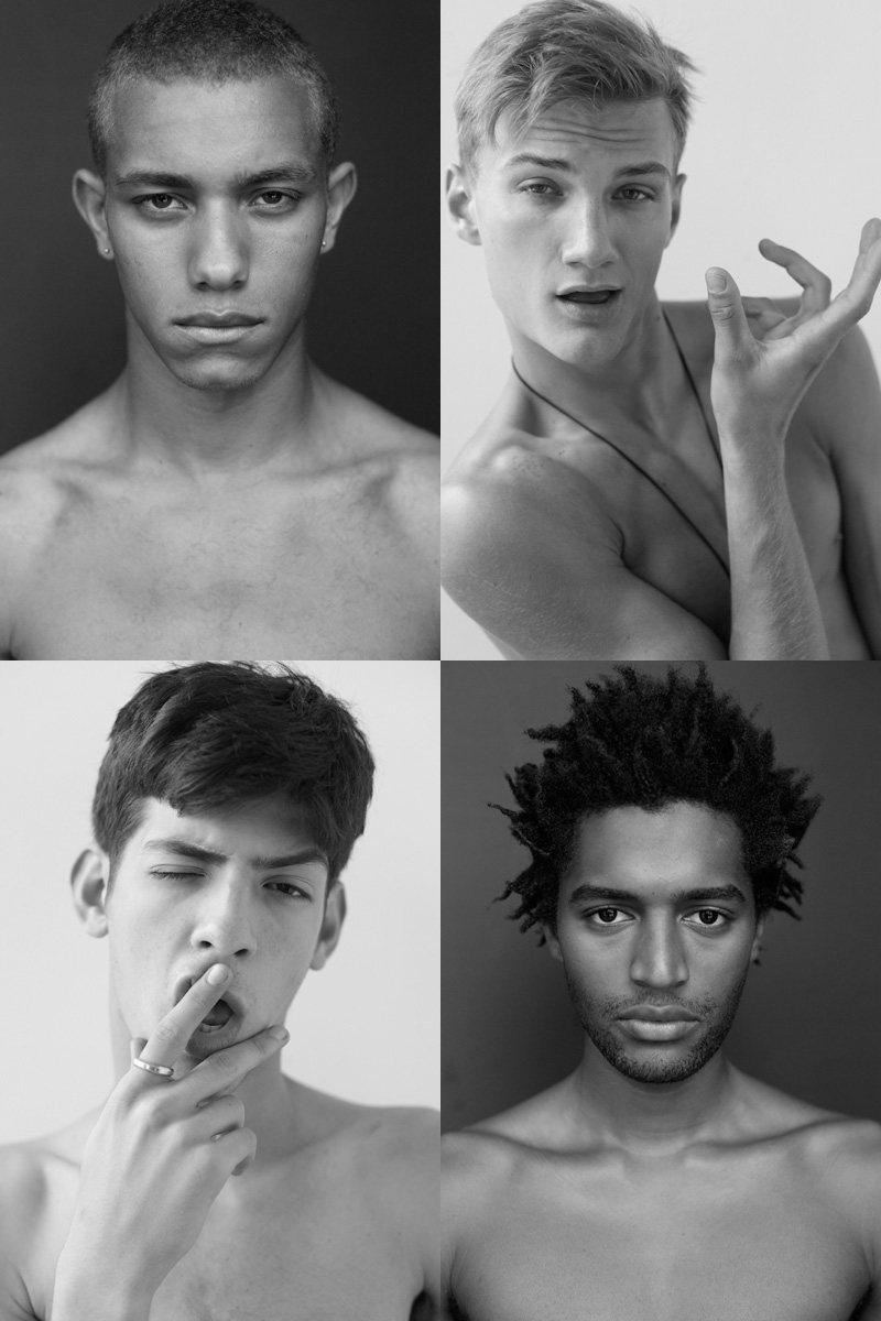 Casting Call: New York Fashion Week Spring 2012 Edition   Austin Hall, Chris Garcia, Erik Sage & Thiago Santos by Nikolai de Vera
