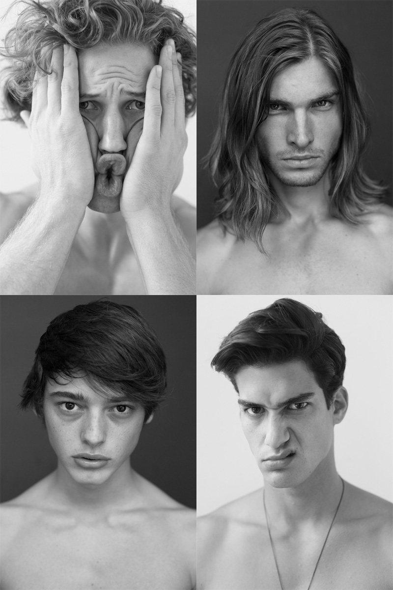 Casting Call: New York Fashion Week Spring 2012 Edition   Brett Staal, Jacob Morton, Kaylan Falgoust & Mario Skaric by Nikolai de Vera
