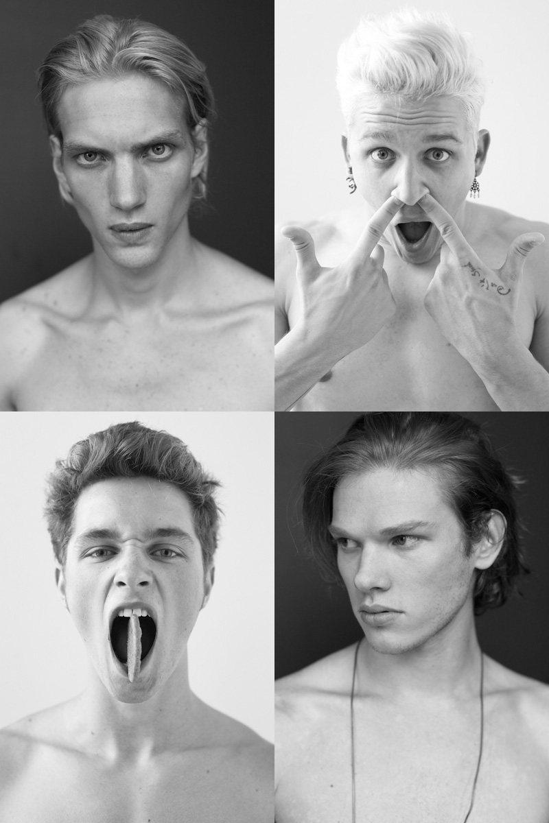 Casting Call: New York Fashion Week Spring 2012 Edition | Brennen Steines, Joe Hartmann, Leebo Freeman & Paul Boche by Nikolai de Vera